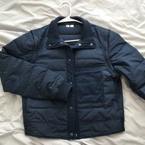 Uniqo U blue cropped puffer jacket